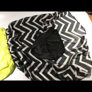Maurices Dresses - yellow black white chevron pattern high low dress